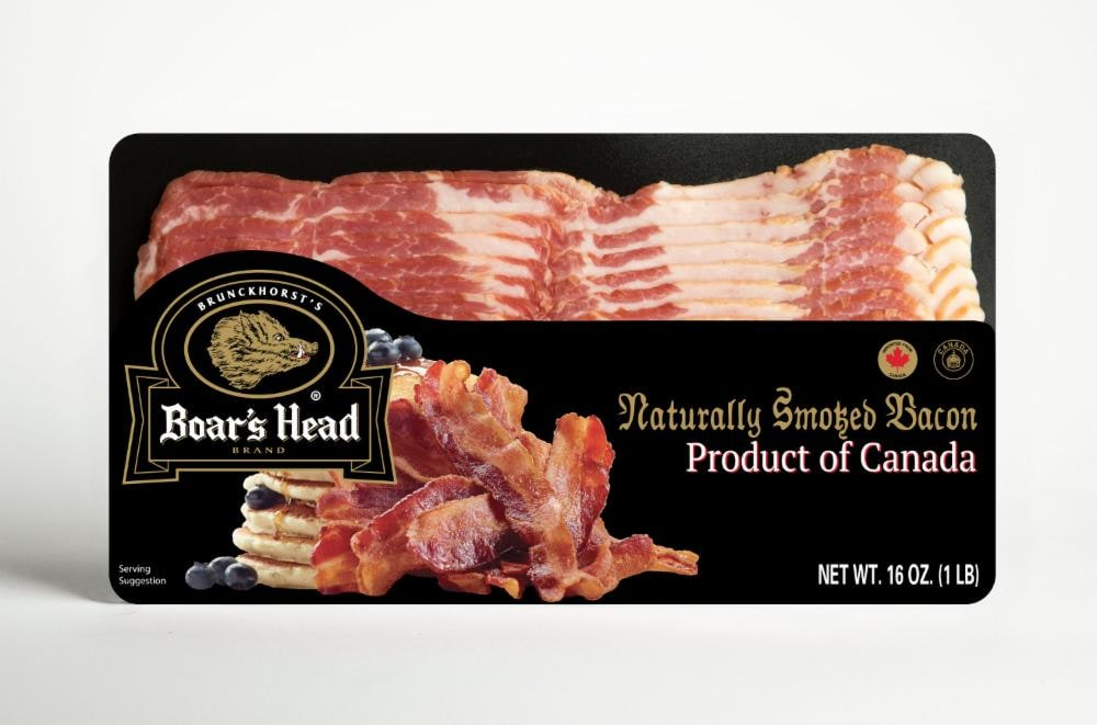 Naturally Smoked Bacon, Product of Canada - 1 Pound